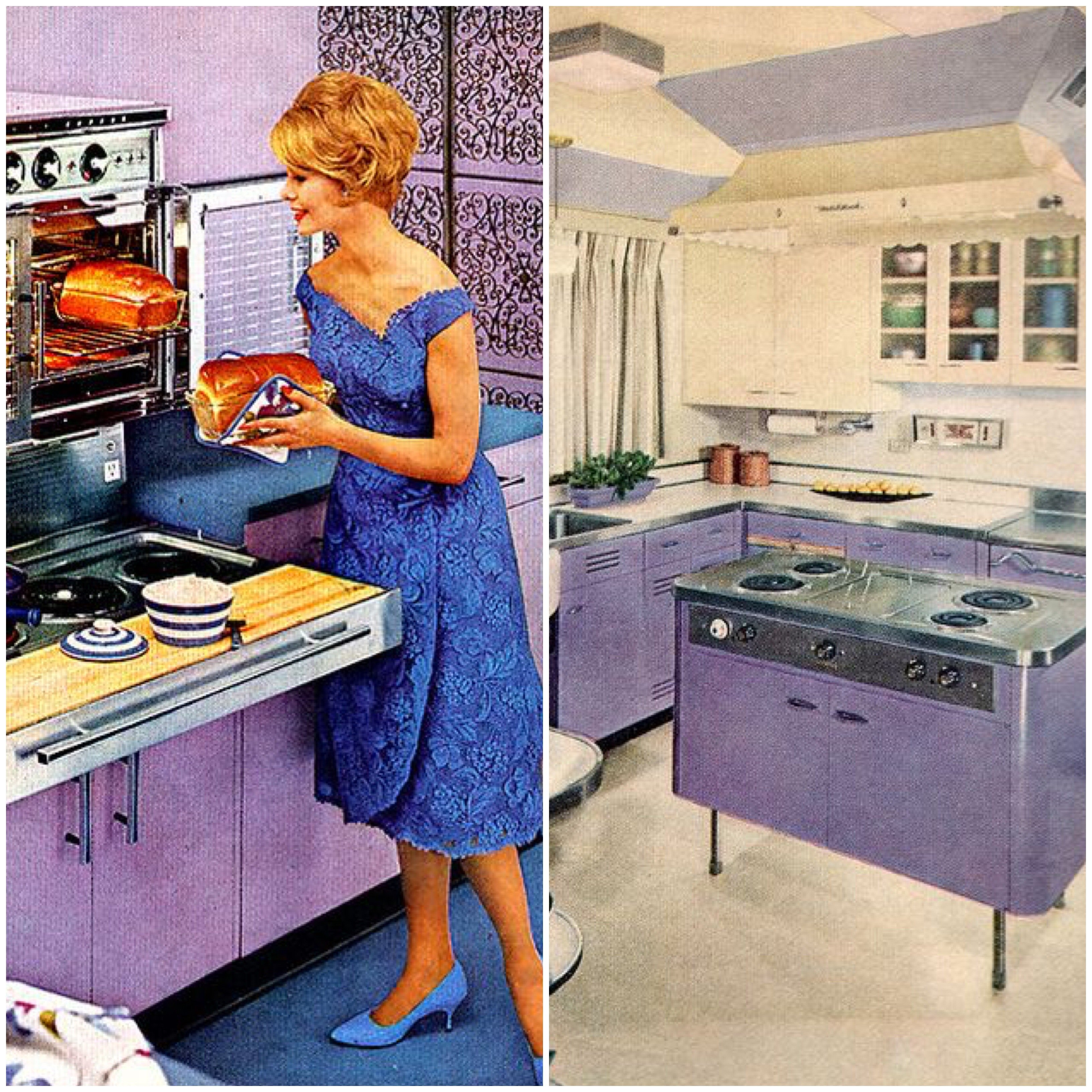 Purple Vintage Kitchen