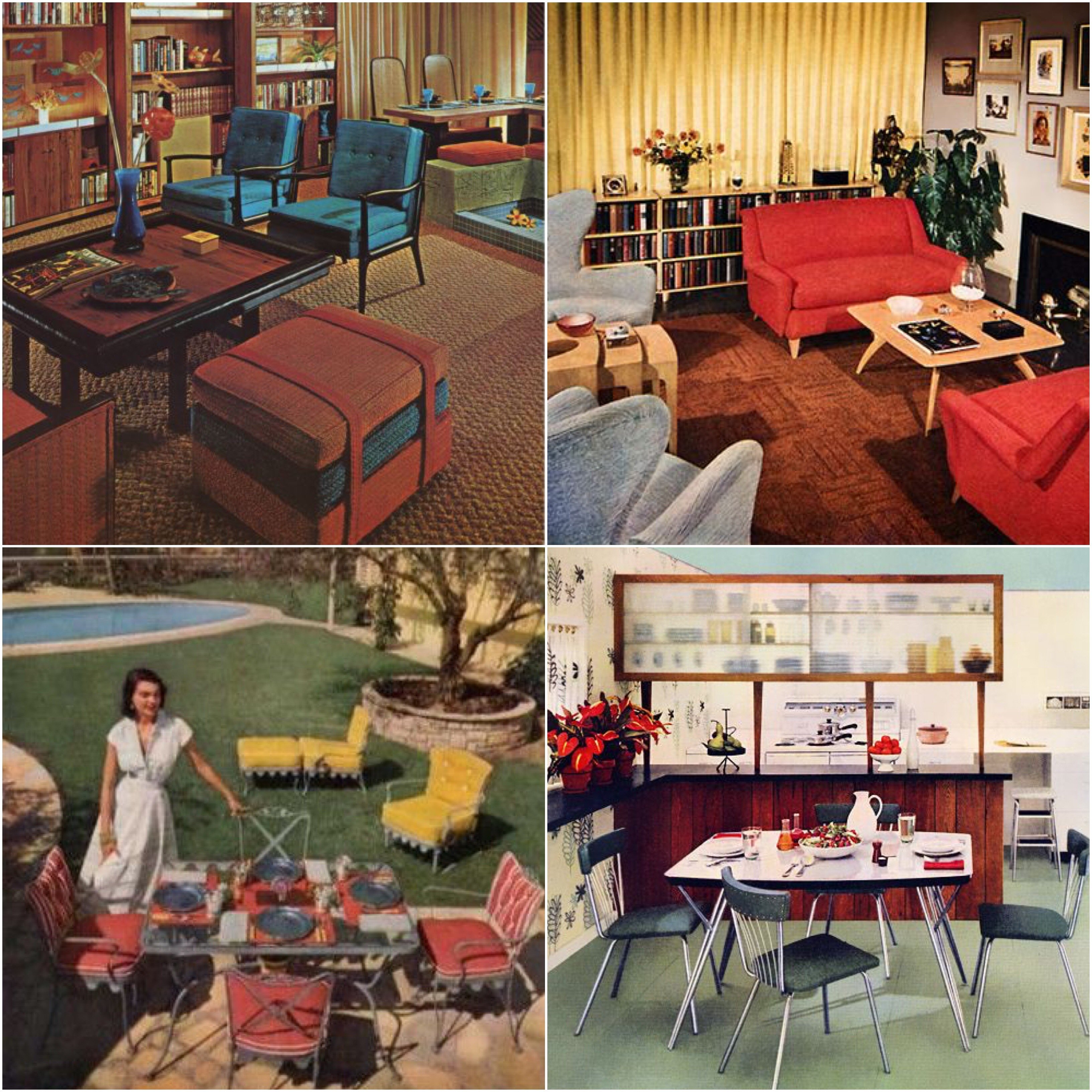 Furniture Of The 1950s Varied, Ranging From Traditional Upholstered  Furniture To Space Age, Futuristic Shaped Pieces. Vinyl Dining Chairs And  Chrome Legged ...