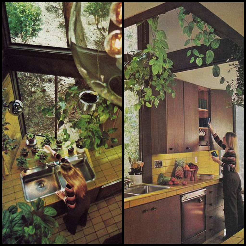 Kitchens With Yellow Cabinets 1970s Kitchens In Warm Autumn Tones