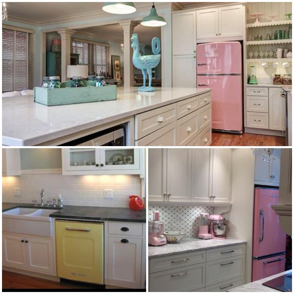 Sparkling Kitchen: Sparkling White Kitchens With Big Chill Appliances