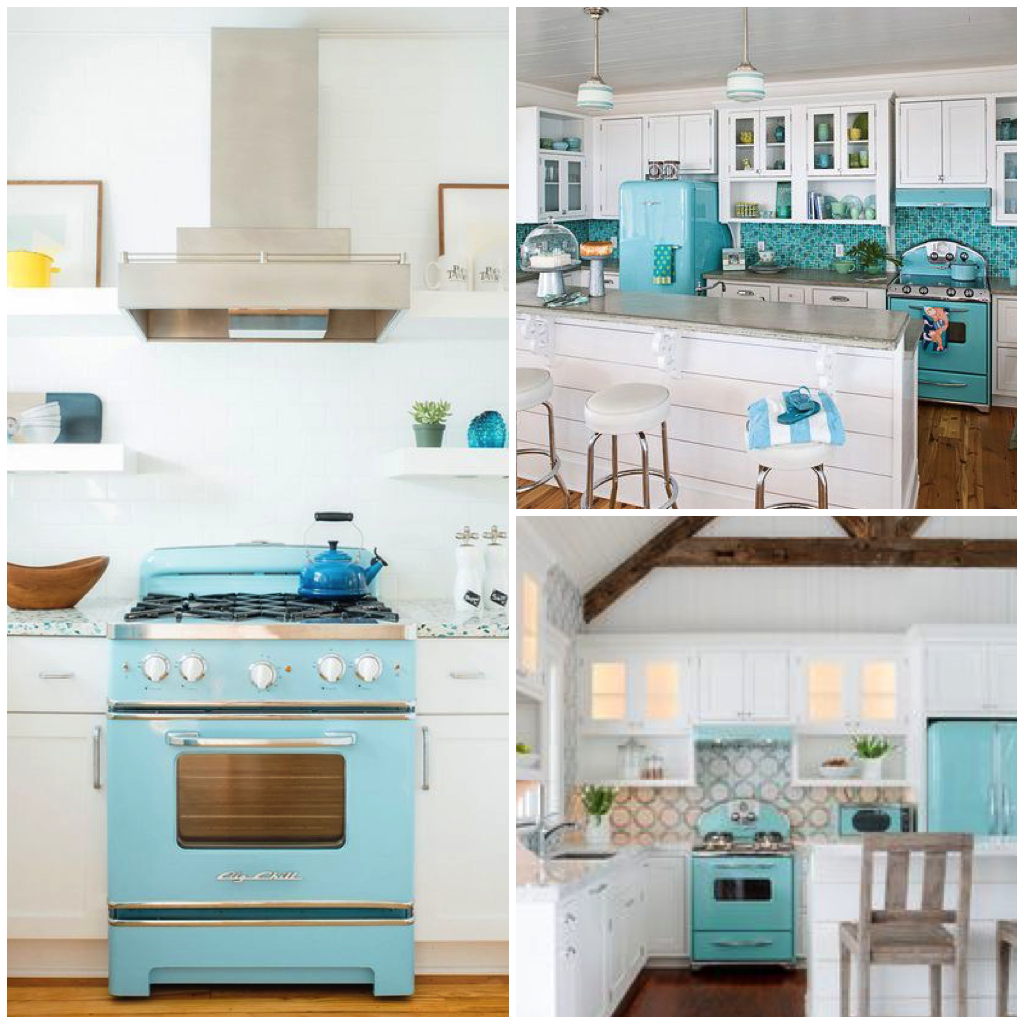 Sparkling White Kitchens With Big Chill Appliances
