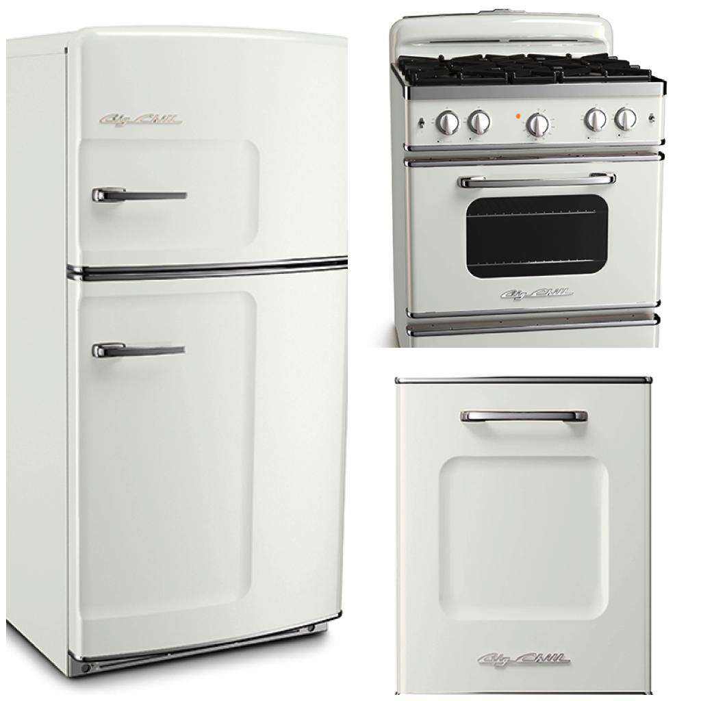 Big Chill - Original Fridge - Retro Stove - Retro Dishwasher - Classic White