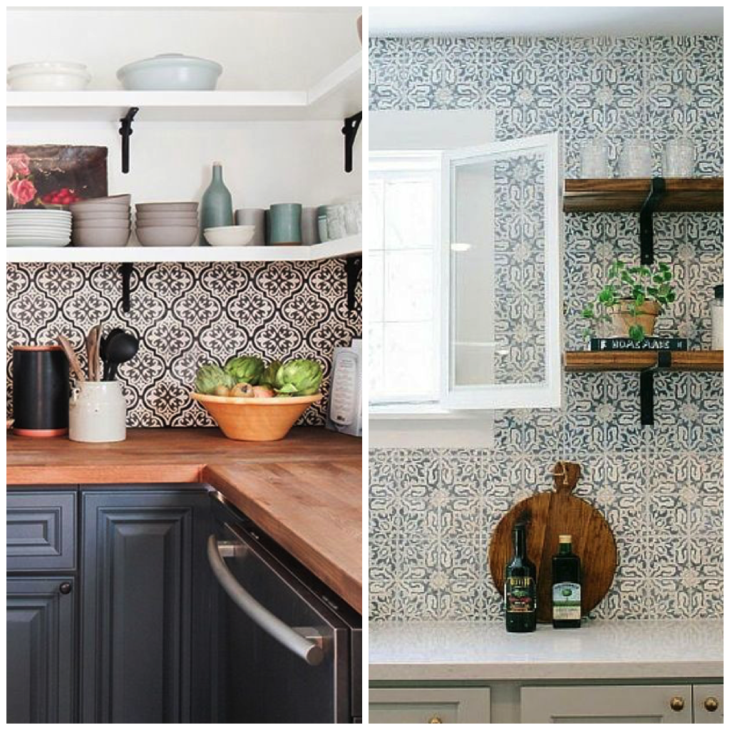 Place Patterned Tiles All The Way To Ceiling For A Dramatic Effect Or Focus On One Area Like Backsplash Your Kitchen Stovetop Sink
