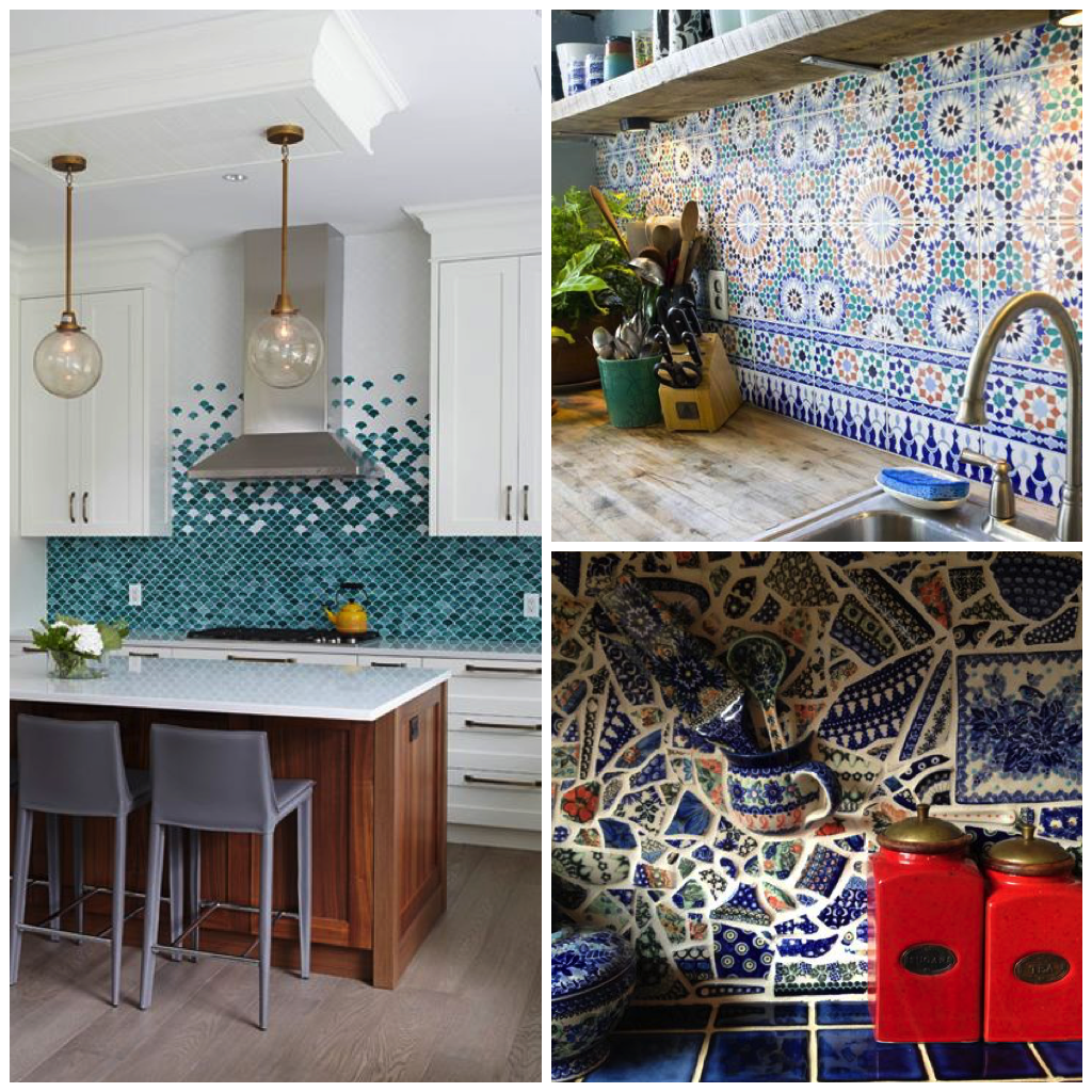 Mosaic Tiles In Bright Colors Can Steal The Show When Used As Backsplashes For Your Stovetop Or Kitchen Sink