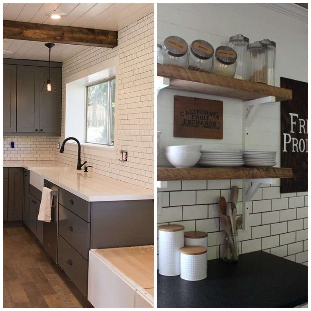 6 elegant varieties of kitchen backsplash tile try using subway tile all the way to your kitchen ceiling to give the pattern a more contemporary look or arrange it behind your stovetop for a traditional dailygadgetfo Gallery