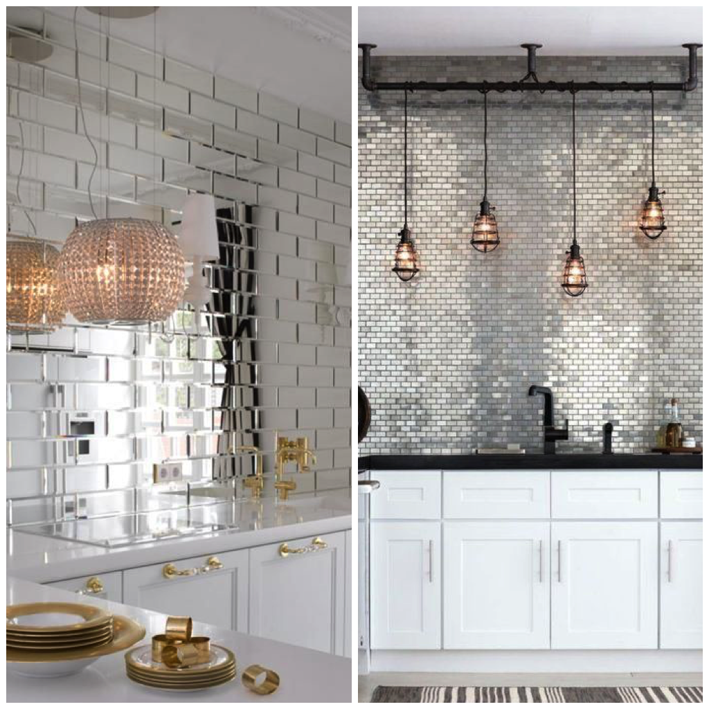 Try using subway tile all the way to your kitchen ceiling to give the pattern a more contemporary look or arrange it behind your stovetop for a traditional