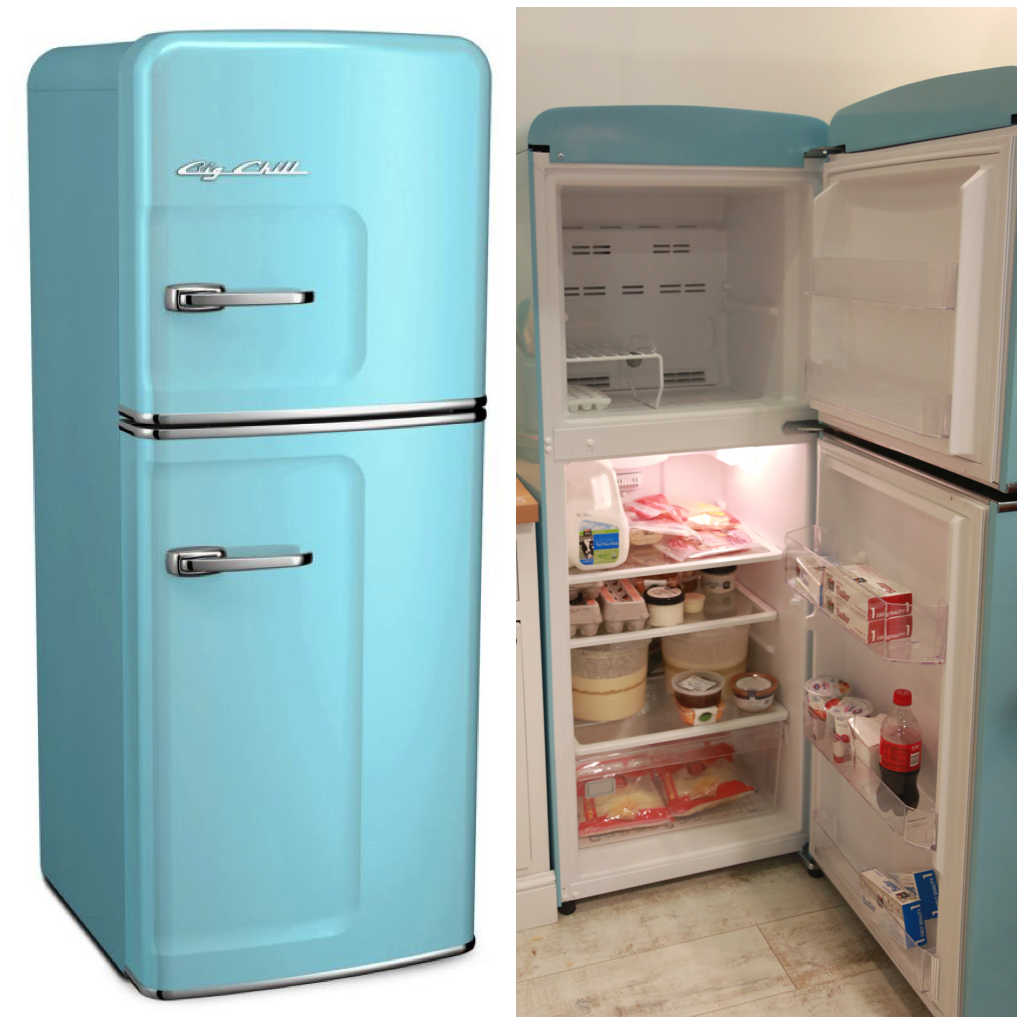 A big chill slim refrigerator offers you the convenience of being compact and sleek yet will efficiently store your favorite cartons in the full width door