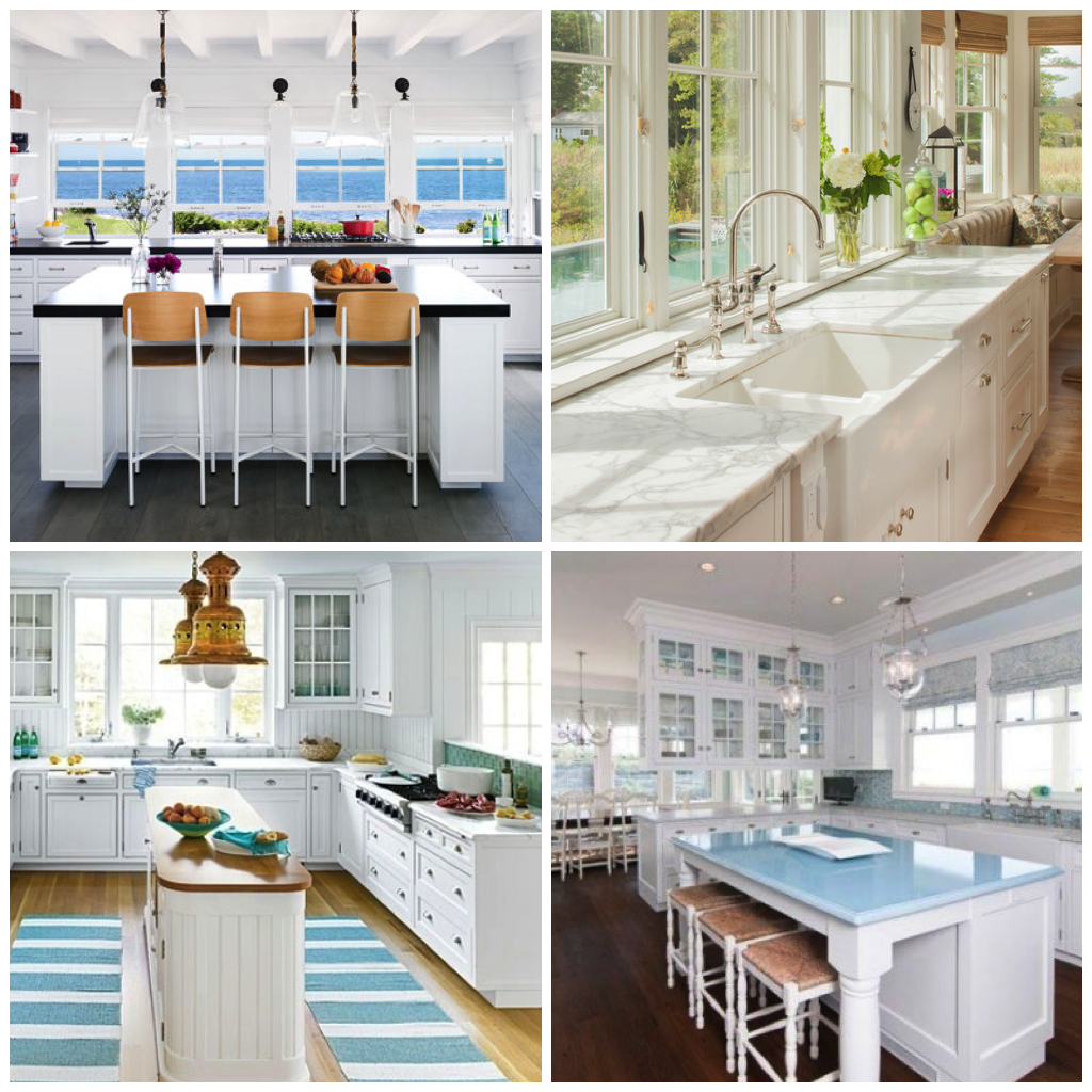 Try Matching Your White Beach Kitchen With Colors Like Blue, Green, Coral,  Yellow, Or Gray. A Colored Appliance Is Also An Easy Way To Introduce A Pop  Of ...