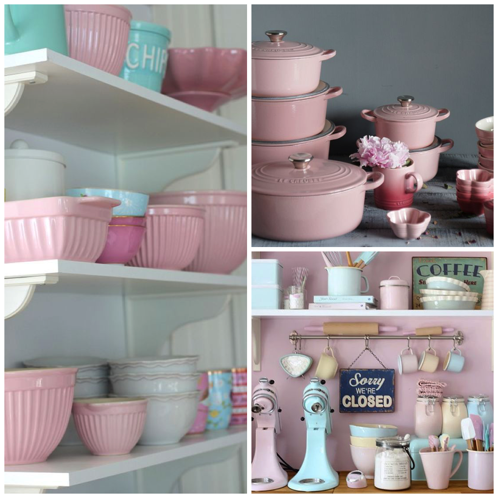 The Addition Of Pink Kitchenware Is A Quick And Easy Way To Jazz Up Any Room With Delicate Pops Color Personality