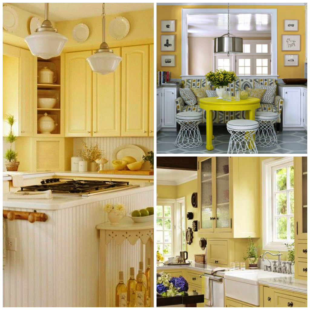 This Warm Shade Of Yellow Also Pairs Extremely Well With Dark Wooden  Accents, Frequently Seen In French Inspired Or Farmhouse Style Kitchens.
