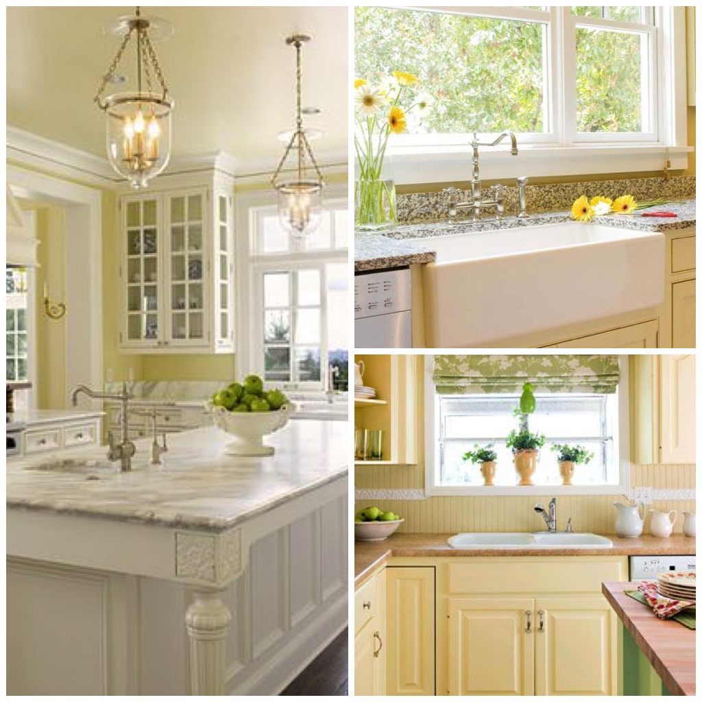 fascinating yellow kitchen white cabinets | Stay Mellow: Four Shades of Sunny Yellow Kitchens