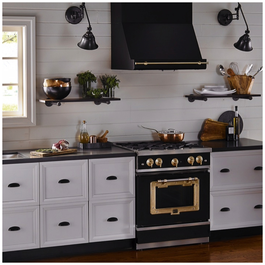 Big Chill Classic Hood with Trim - Classic Stove - Black