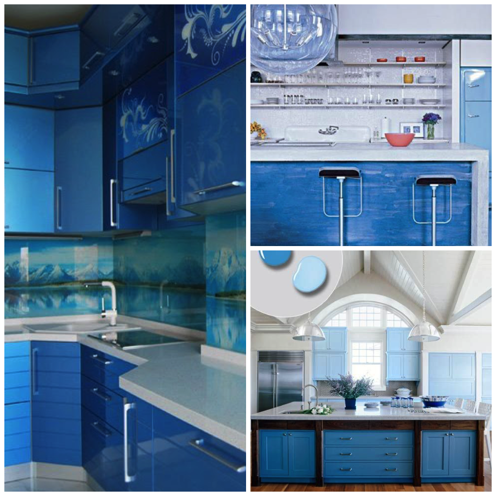 . 15 Inspirational Pictures of Sky Blue Kitchens   Homes