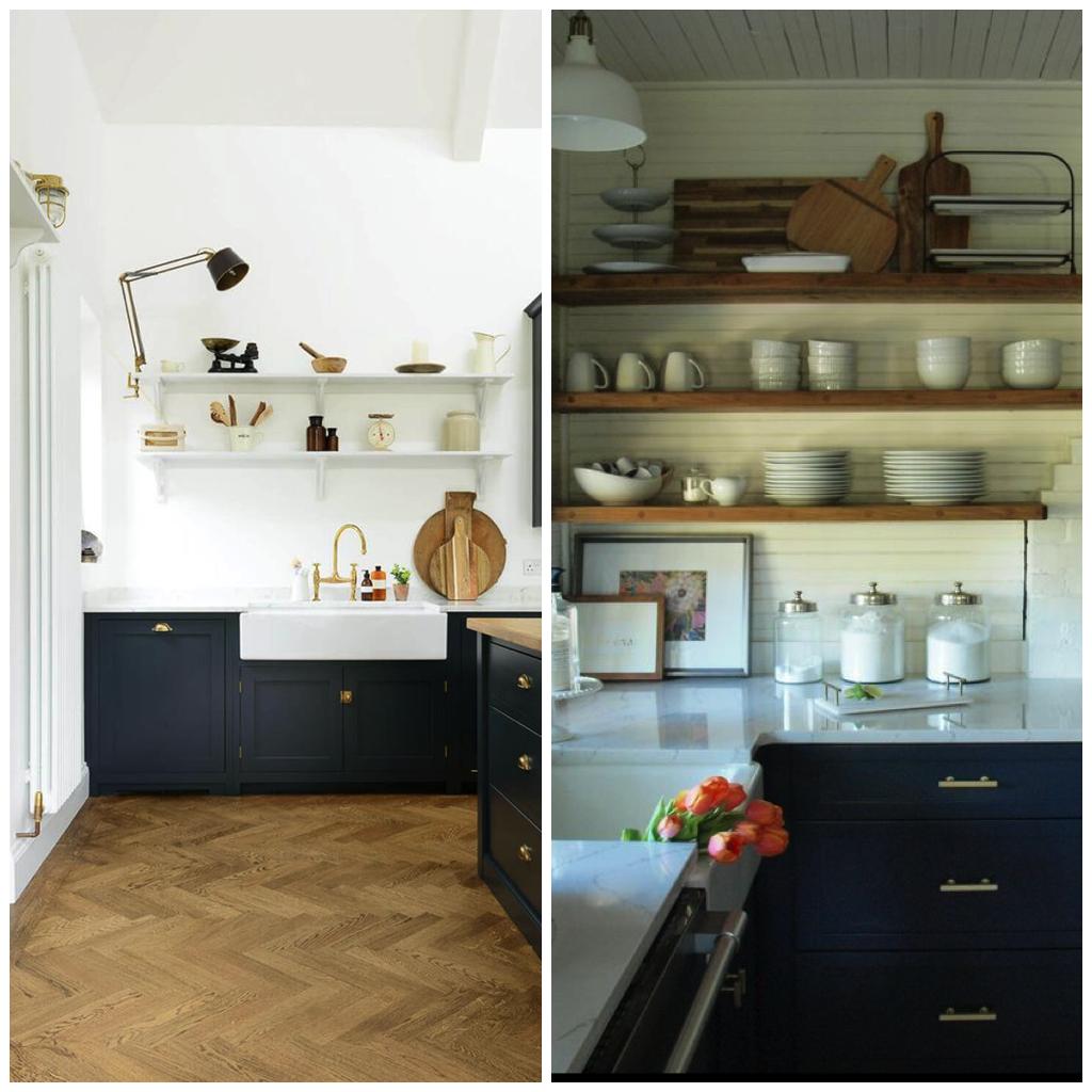 navy kitchen cabinets worn 2 ways to use navy blue in your kitchen