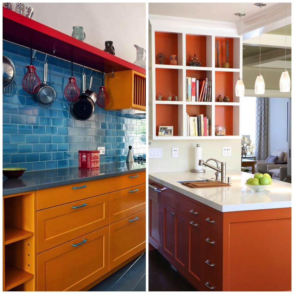 4 Ways To Personalize Your Kitchen Cabinets: 4 Ways To Use Orange In Your Kitchen