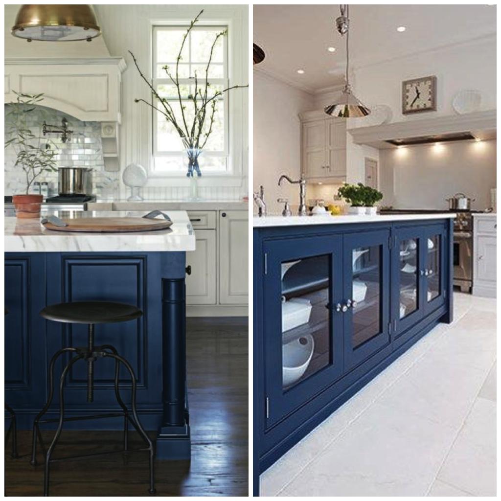 White Kitchen Navy Island: 4 Ways To Use Navy Blue In Your Kitchen