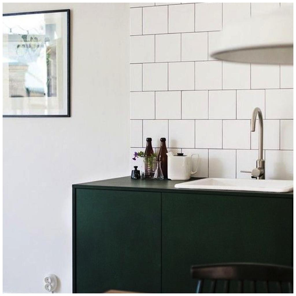 Dark Blue & Green Cabinetry