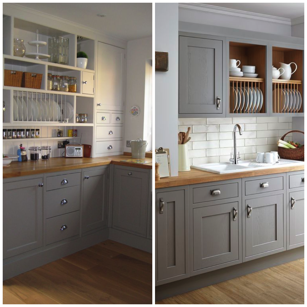 Download Wallpaper White Versus Gray Kitchen Cabinets
