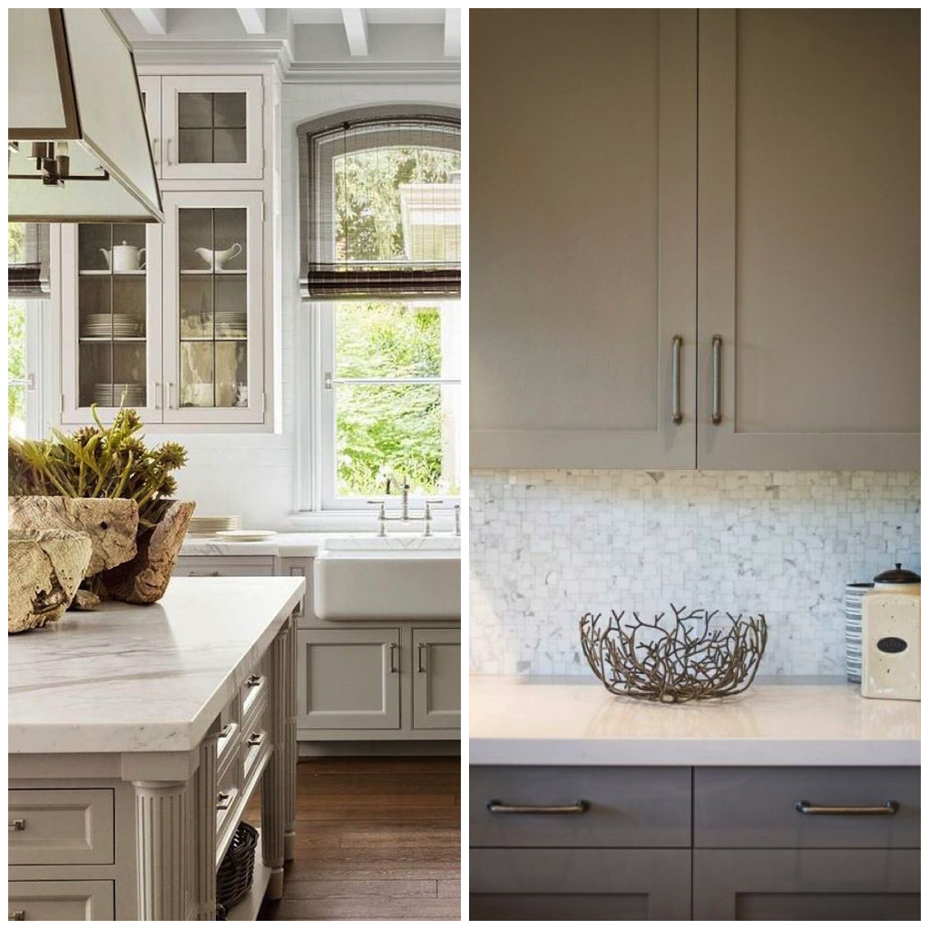 ... arms in the world of kitchen design. Greige creates the perfect canvas for a variety of colors and patterns or looks elegant on its own when coordinated ... & 6 Shades of Gray for a Kitchen That is Anything but Boring