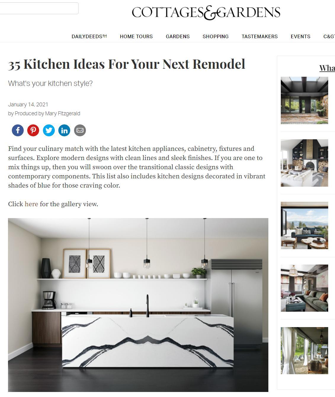 Connecticut Cottages & Gardens Online - January 14, 2021