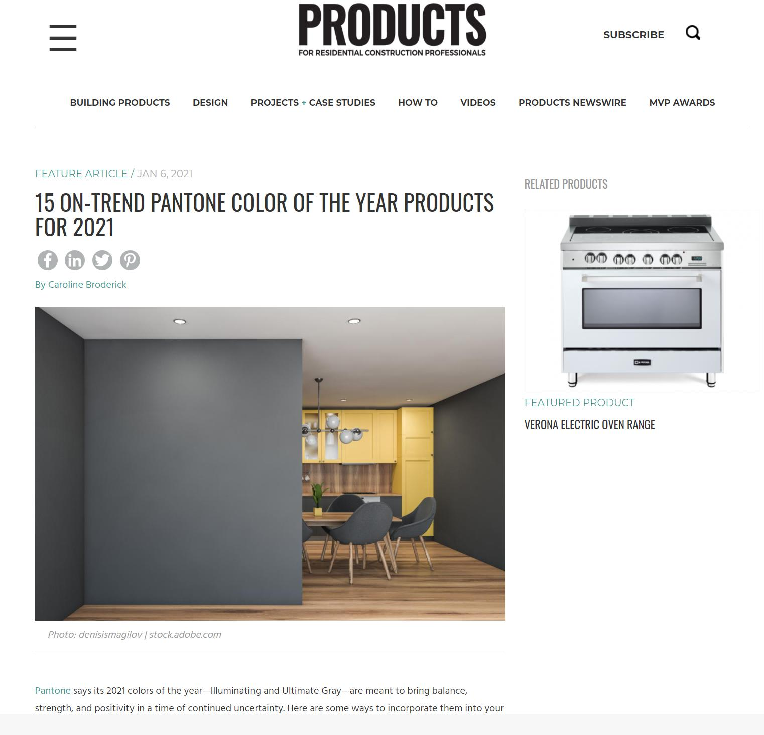Products Online - January 6, 2021