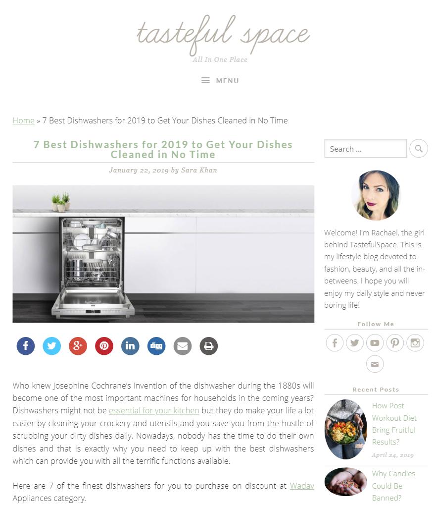 Tasteful Space Blog – January 2019