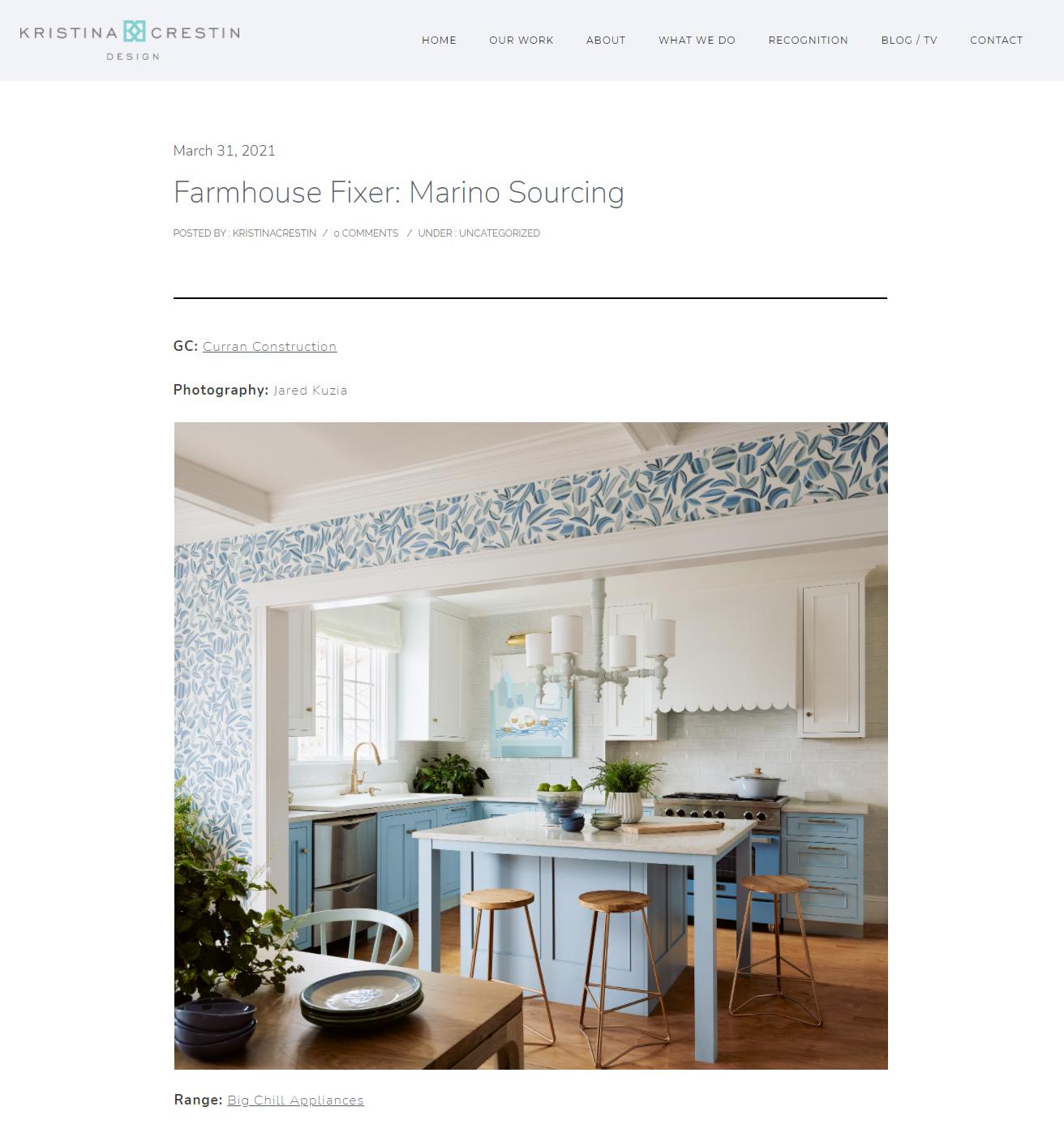 Kristina Crestin Design Blog - March 31, 2021