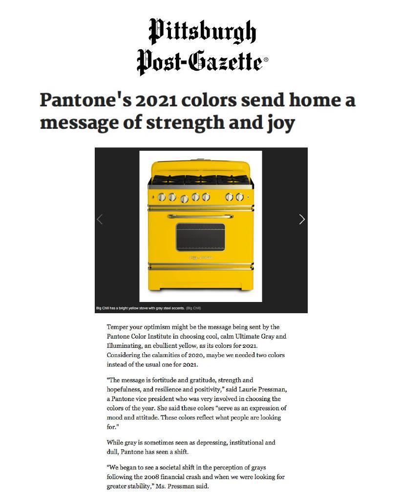 Pittsburgh Post-Gazette Online – January 18th, 2021