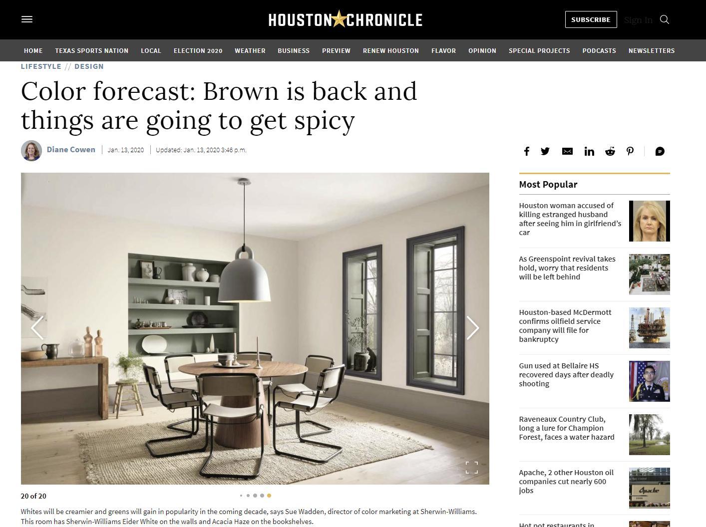 Houston Chronicle Online – January 13, 2020