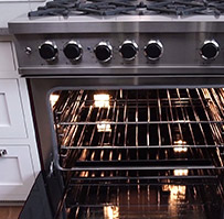 Up to 99,000 total BTU cooktops and 45,000 BTU oven strength