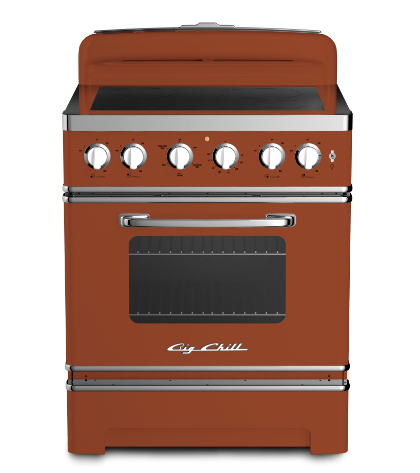 Big Chill 30 Retro Electric Induction Range in #8004 Copper Brown