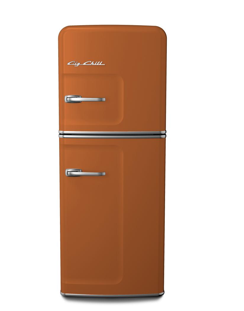 Big Chill Slim Retro Fridge in #8023 Orange Brown