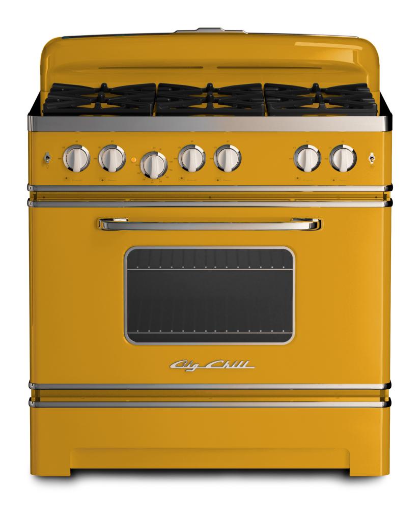 Big Chill 36 Retro Stove in #1005 Honey Yellow