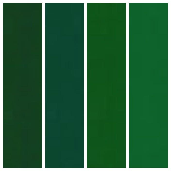 Big Chill Custom Colors: 6020 Chrome Green, 6028 Pine Green, 6002 Leaf Green, 6029 Mint Green