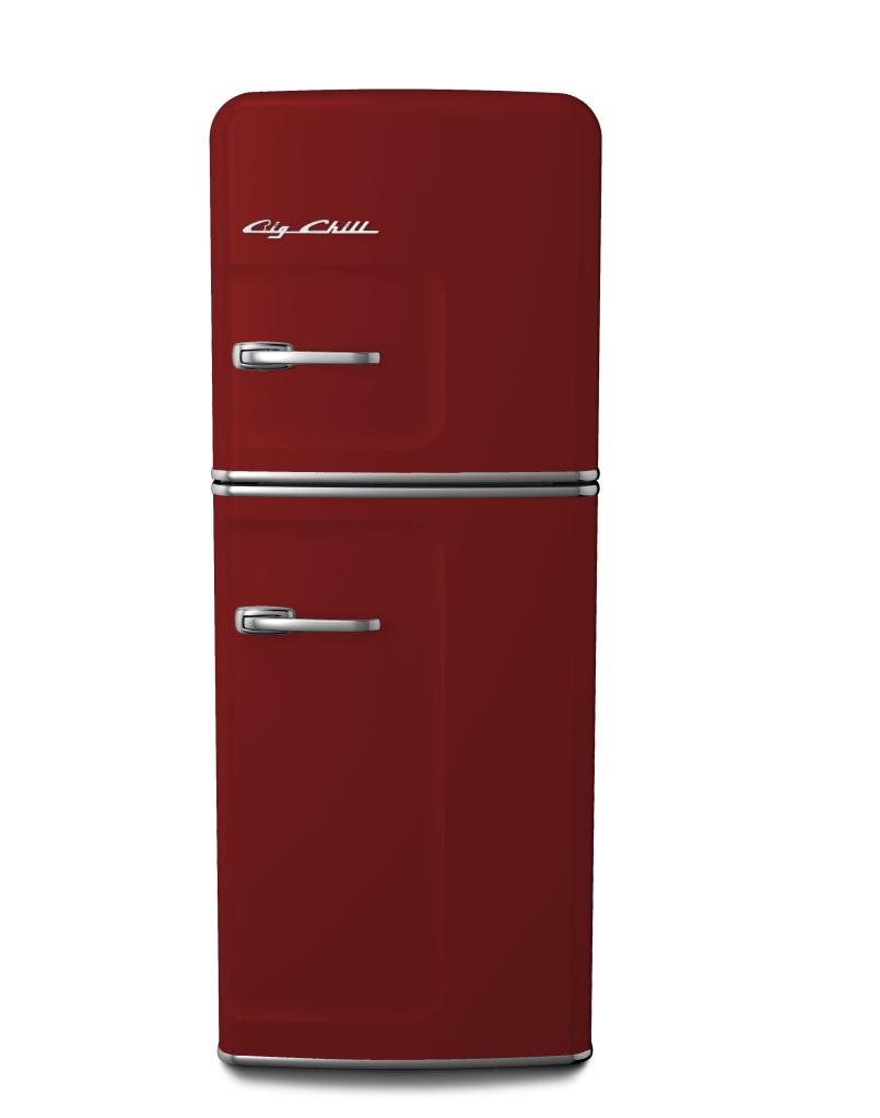 Slim Refrigerator in Custom Color #3003 Ruby Red