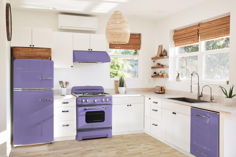 Retro Appliances in Custom Color #4005 Blue Violet
