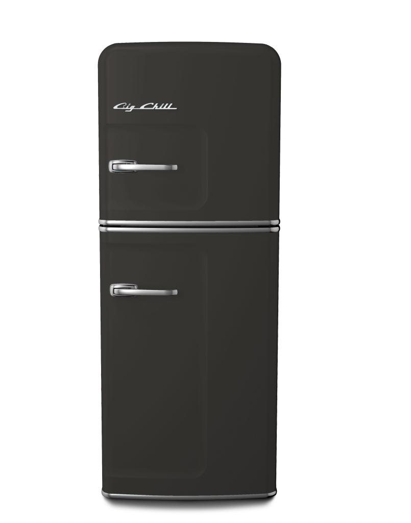 Retro Slim Refrigerator in Custom Gray Shades