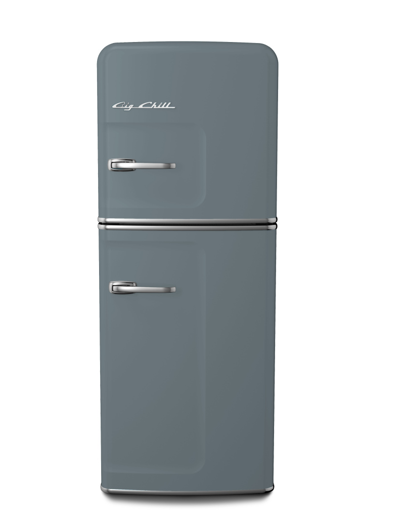 Retro Slim Refrigerator in Custom Color #7000 Squirrel Gray