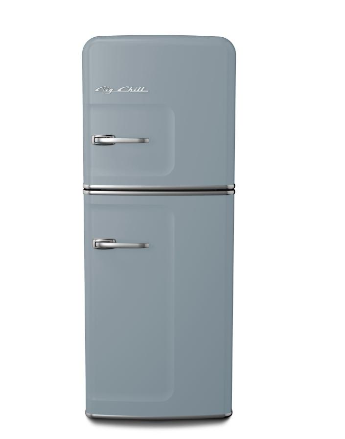 Retro Slim Refrigerator in Custom Color #7001 Silver Gray