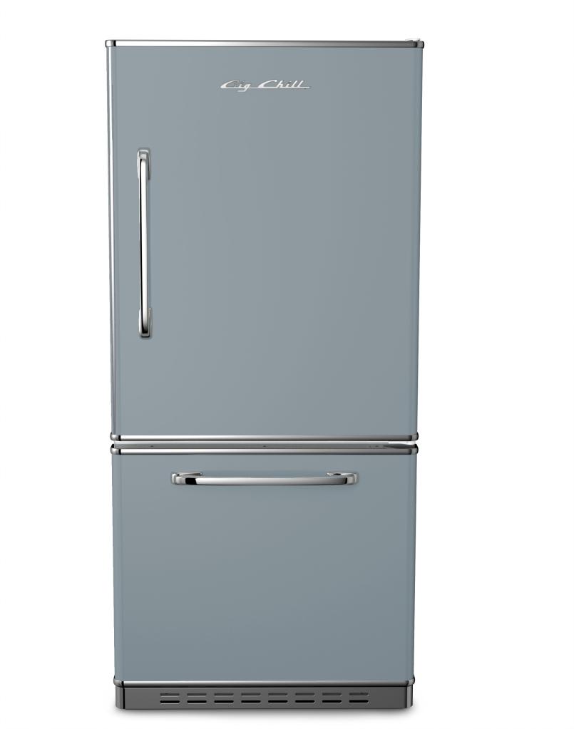 Retropolitan Refrigerator in Custom Color #7001 Silver Gray