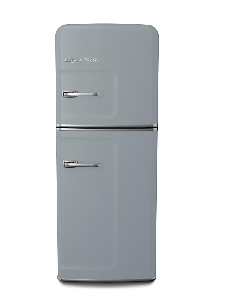 Retro Slim Refrigerator in Custom Color #7040 Window Gray