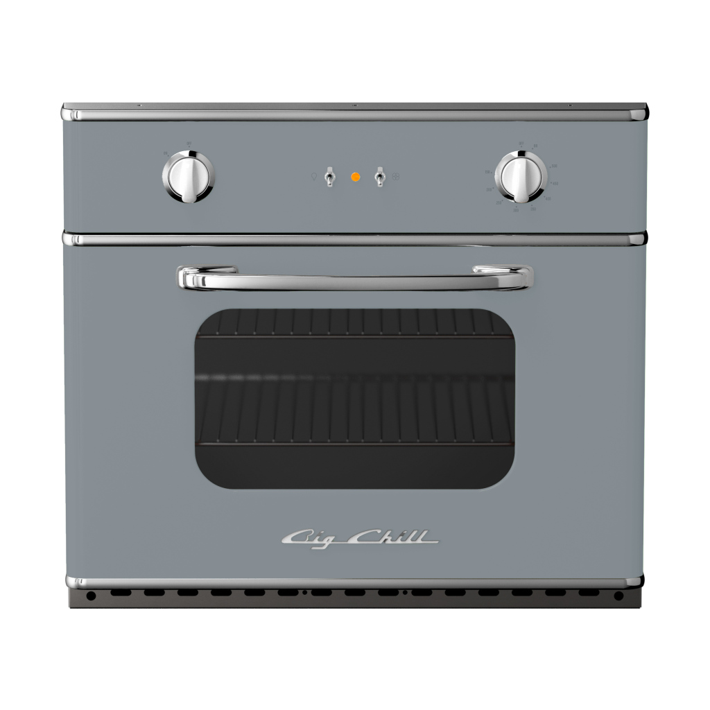 Retro 30″ Electric Wall Oven in Custom Color #7040 Window Gray