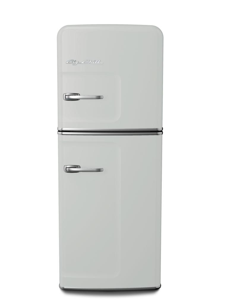Retro Slim Refrigerator in Custom Color #7035 Light Gray