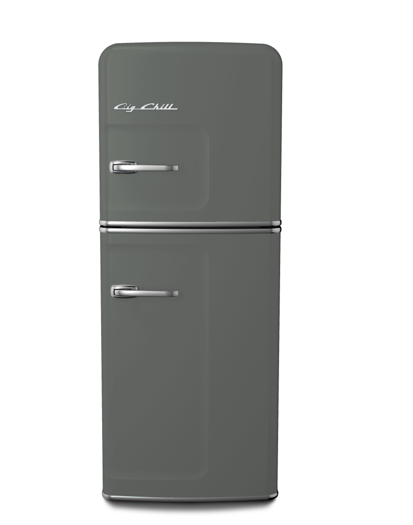 Retro Slim Refrigerator in Custom Color #7005 Mouse Gray