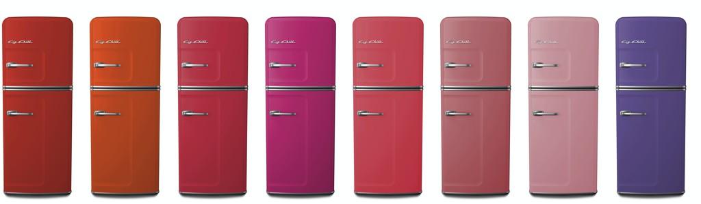 Slim Refrigerator in Big Chill Custom Colors