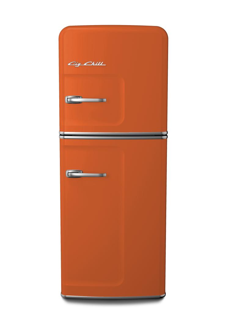 Slim Refrigerator in Custom Color #2001 Red Orange