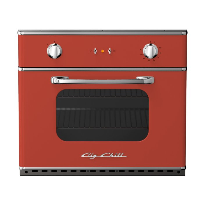 Retro 30″ Electric Wall Oven in Custom Color #3016 Coral Red