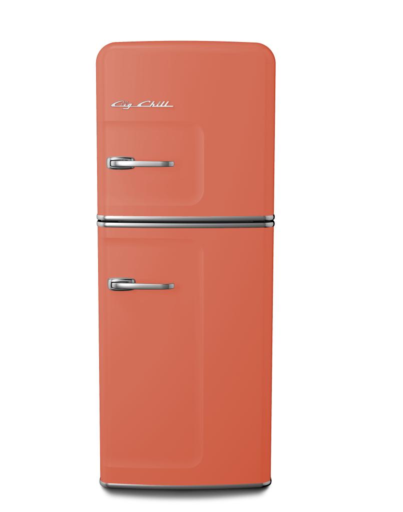 Slim Refrigerator in Custom Color #3022 Salmon Pink