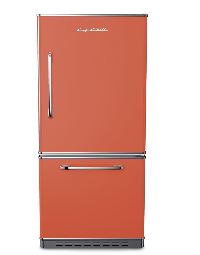 Retropolitan Refrigerator in Custom Color #3022 Salmon Pink