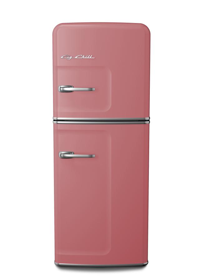 Slim Refrigerator in Custom Color #3014 Antique Pink